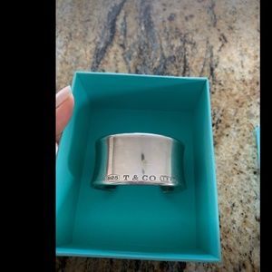 Genuine Sterling silver Tiffany cuff bracelet